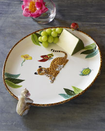 Lynn Chase            Jungle Dinnerware -   		Patterned - 	Neiman Marcus :  dinnerware animal patterned multi-colored