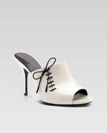 Gucci Corset Mid Heel Slide