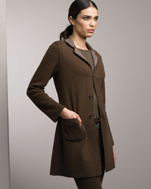 Loro Piana Reversible Cashmere Coat & Leggings -  Fine Apparel -  Neiman Marcus :  loro piana crew neckline notched collar reversible