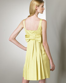Valentino Red Bow-Back Dress -  European Contemporary -  Neiman Marcus :  fashion dress valentino red bow back dress yellow