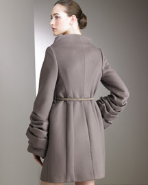 Valentino Felted Wool Coat -  Valentino -  Neiman Marcus :  wool coat valentino wool apparel