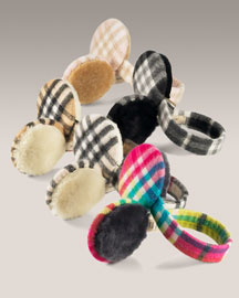 Burberry Check Cashmere Ear Muffs -  Neiman Marcus