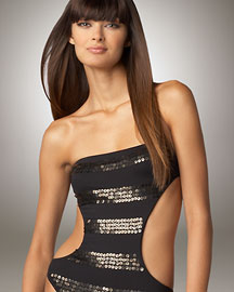 Juicy Couture Sequined Maillot- One Piece- Neiman Marcus