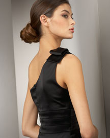 Kay Unger New York One-Shoulder Satin Dress