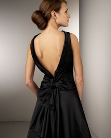 Rickie Freeman for Teri Jon V-Back Satin Dress