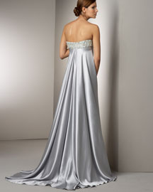 Marc Bouwer Glamit! Beaded Silk Gown -  Long -  Neiman Marcus