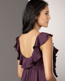 Julie Haus            Zazel Dress -   		Berry Colors - 	Neiman Marcus :  zazel dress ruffle silk mini dress