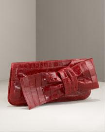 Nancy Gonzalez Bow Croc Clutch-  Neiman Marcus