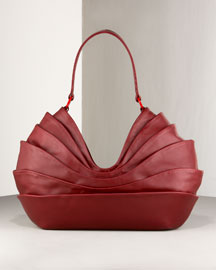 Christian Louboutin Pleated Shoulder Bag -  Jewel Tones -  Neiman Marcus from neimanmarcus.com
