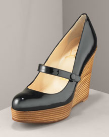 Louboutin wedge