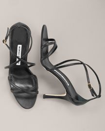 Manolo Blahnik Strappy Sandal- Evening- Neiman Marcus