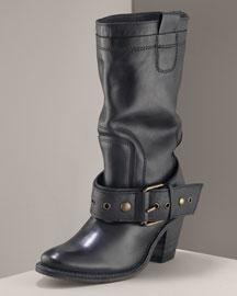 Frye Belted Mid-Calf Boot- Designer- Neiman Marcus