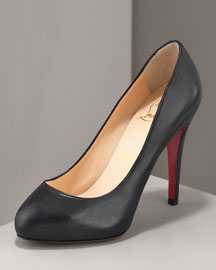Christian Louboutin Covered Platform Pump -  Premier Designer -  Neiman Marcus :  red sole sandals premier dior