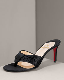 Christian Louboutin Satin Thong Sandal -  Shoes -  Neiman Marcus :  luxe marcus summer different