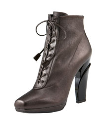 Prada Two-Piece Lace-Up Boot -  Women's -  Neiman Marcus