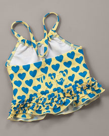 Juicy Couture            Heart Swimsuit -   		Baby - 	Neiman Marcus from neimanmarcus.com