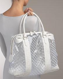 Fendi Grande Clear Prism Baulotto - Totes- Neiman Marcus :  designer vinyl womens marcus