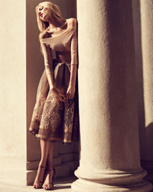 Donna Karan Collection Ballerina Bodysuit & Havana A-Line Skirt -  Shop Art of Fashion -  Neiman Marcus from neimanmarcus.com