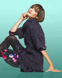 Rebecca Taylor Runway Pullover & Flower-Print Shirt Dress -  Rebecca Taylor -  Neiman Marcus :  fringe trend turtleneck marcus neiman