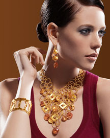 Devon Leigh Bib Necklace, Drop Earrings & Cutout Cuff -  New Arrivals -  Neiman Marcus