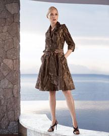 Flores & Flores Animal-Print Shirtdress- Shirtdresses- Neiman Marcus
