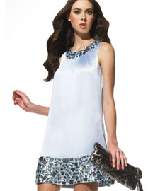 Betsey Johnson Beaded-Trim Dress- On the Town- Neiman Marcus