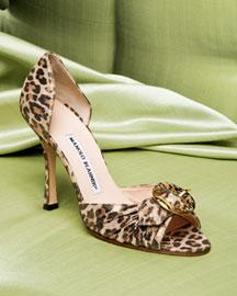 Manolo Blahnik Leopard Buckled d