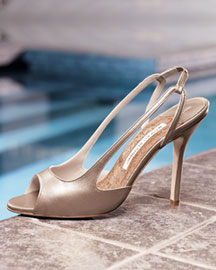 Manolo Blahnik Patent Slingback -  Accessories -  Neiman Marcus :  apparel open toe different chloe