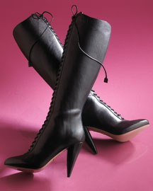 Prada Tall Shaft Lace-Up Boot -  Premier Designer -  Neiman Marcus :  fashion accessory design fashion accessories designer