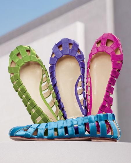 D&G Dolce & Gabbana Round-Toe Flat- Flats- Neiman Marcus :  fashion designer italy flats