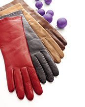 Cashmere or SIlk-Lined Four-Button Gloves