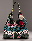 Isabella Fiore Large Knit Hobo