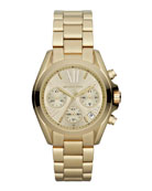 Mid-Size Golden Stainless Steel Bradshaw Chronograph Watch