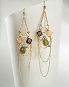 Semiprecious chain earrings by Cynthia Dugan