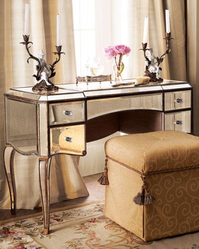 Claudia Mirrored Vanity/Desk