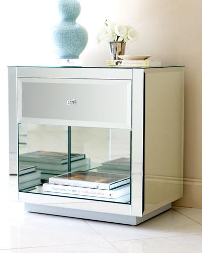 Hannah Mirrored Side Table