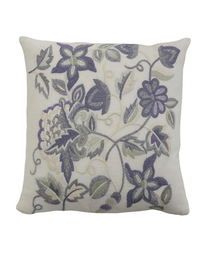 Sherry Pillow with Multicolored Embroidery, 21