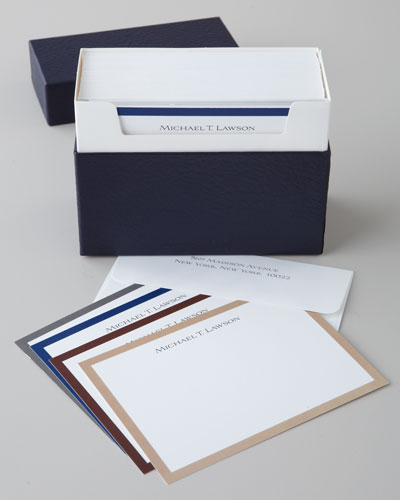 20 Gentleman Bordered Cards & Envelopes