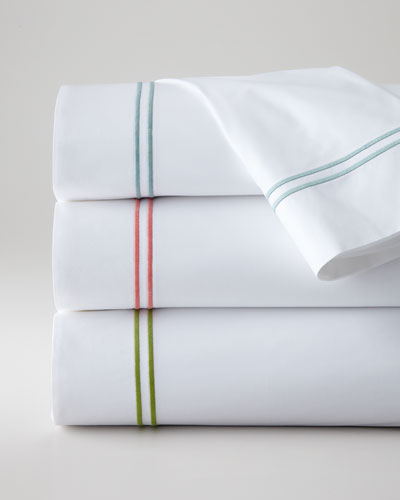 King New Resort 200TC Satin-Stitched Flat Sheet