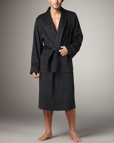Cashmere Robe, Charcoal