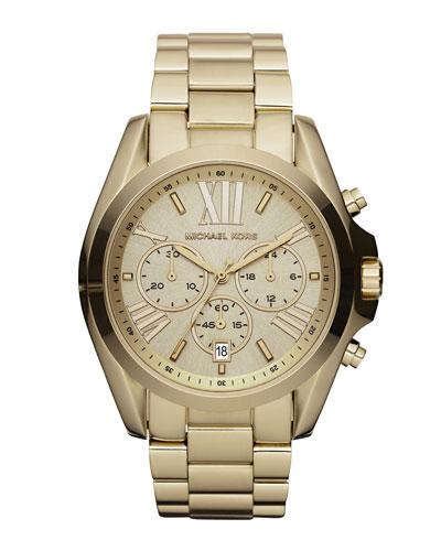 Mid-Size Bradshaw Chronograph Watch, Golden