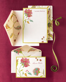 Caspari: Floral Correspondence Notes :  floral card watercolor paper personalize