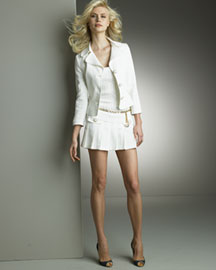 D&G Dolce & Gabbana Miniskirt Suit & Tank -  Apparel -  Neiman Marcus :  jacket ivory three quarter sleeves tank dress