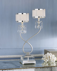 Silver-Plated Console Lamp -   Neiman Marcus :  home furniture handmade women