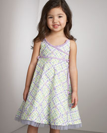 Plum Pudding Printed Wrap Dress