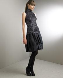 Donna Karan Collection Sequin Tank & Satin Balloon Skirt- Apparel- Neiman Marcus