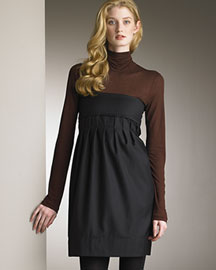 Stella McCartney Jersey Turtleneck & Wool Strapless Dress -  Fine Apparel -  Neiman Marcus