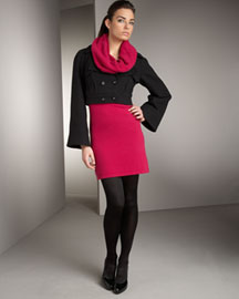 Catherine Malandrino Cropped Cashmere Jacket & Cowl-Neck Dress- Catherine Malandrino- Neiman Marcus
