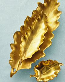 William Yeoward Gold Leaf Bowls