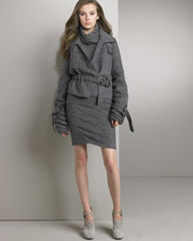 Nina Ricci Cropped Trench & Skirt -  Apparel -  Neiman Marcus